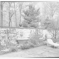 Mrs. Coster Morris, residence in Brookville, Long Island, New York. Walled garden, horizontal