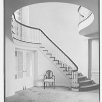 Mrs. George F. Ryan, Vaucluse, residence in Portsmouth, Rhode Island. Staircase