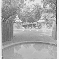 Paul Mellon, residence in Upperville, Virginia. Children's pool, to poolhouses