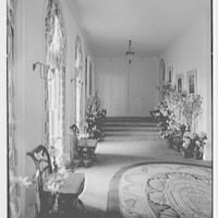 Paul Mellon, residence in Upperville, Virginia. Gallery, from library