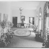 Paul Mellon, residence in Upperville, Virginia. Gallery, to library