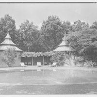 Paul Mellon, residence in Upperville, Virginia. Poolhouses, horizontal