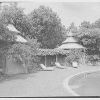Paul Mellon, residence in Upperville, Virginia. Poolhouses, sharp