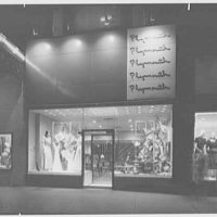 Plymouth Shop, business at 82nd St. and Broadway, New York City. Exterior