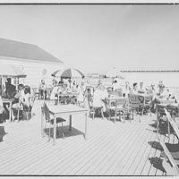 Surf Club, Atlantic Beach, Long Island, New York. Cafeteria, outside tables