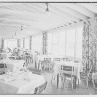 Surf Club, Atlantic Beach, Long Island, New York. Porch, dining room