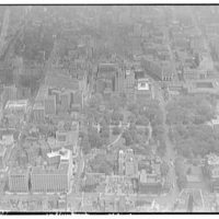 Washington, D.C. Aerial view of Lafayette Square looking east