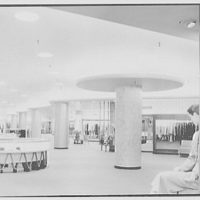 Bond's, business at 6th and Vine Sts., Cincinnati, Ohio. General view of dress department