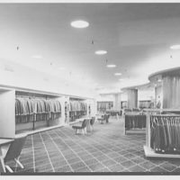 Bond's, business at 6th and Vine Sts., Cincinnati, Ohio. General view to men's overcoats