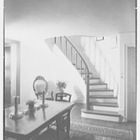 Calvin Tomkins, Jr., Sneden's Landing, residence in Palisade, New York. Staircase detail