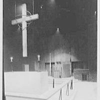 Church of St. Clement, 1701 N. Quaker Lane, Alexandria, Virginia. Cross detail from right, vertical