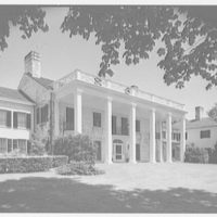 Cornelius V. Whitney, residence in Old Westbury, Long Island, New York. South facade