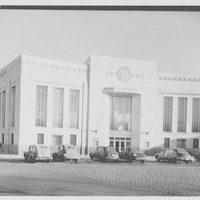 Dollar Savings Bank, Parkchester Branch, Bronx, New York. Exterior from left