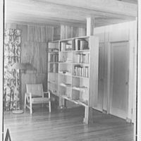 Donald C. Little, residence in Syosset, Long Island, New York. Bookcase detail