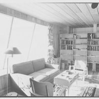 Donald C. Little, residence in Syosset, Long Island, New York. Living room, to window I