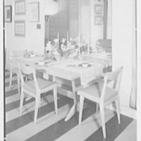 Elizabeth Draper, business at 785 Madison Ave., New York City. Norwegian furniture, dining room table II