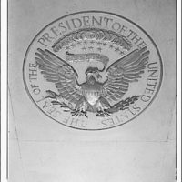 Emblems and seals. President's seal in floor of White House lobby