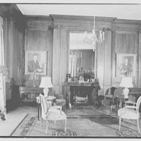 General Dwight D. Eisenhower, residence at 60 Morningside Drive, New York City. Drawing room