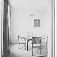 General Dwight D. Eisenhower, residence at 60 Morningside Drive, New York City. Card room