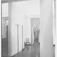 Helena Rubinstein, business at 655 5th Ave., New York, New York. Salon elevator door