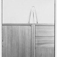 Herman Miller, business at 1 Park Ave., New York City. Bookcase, detail