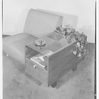 Herman Miller, Inc., business at 1 Park Ave., New York City. Chair and table
