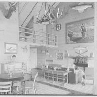 Horace Flanigan, residence on Anderson Hill Rd., Purchase, New York. Rumpus house, interior III