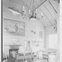 Horace Flanigan, residence on Anderson Hill Rd., Purchase, New York. Rumpus house, interior II