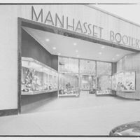 Manhasset Bootery, business at 505 Plandome Rd., Manhasset, Long Island. Exterior at side