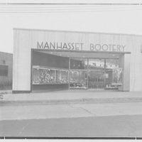 Manhasset Bootery, business at 505 Plandome Rd., Manhasset, Long Island. General exterior