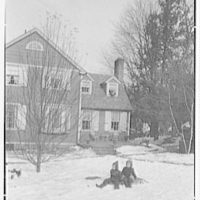 Mrs. Lawrence Ullman, business in Tarrytown, New York. Cottage, with children in foreground