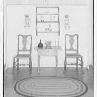 Mrs. Lawrence Ullman, business in Tarrytown, New York. Shelves and table