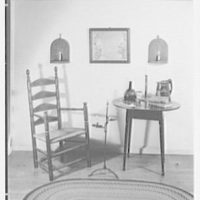 Mrs. Lawrence Ullman, business in Tarrytown, New York. Table and chair