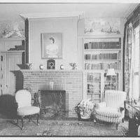 Mrs. Mortimer J. Fox, Foxden, residence in Peekskill, New York. Library