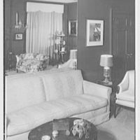 Mrs. Theo Greeff, residence at 30 Sutton Pl., New York City. Mirror picture