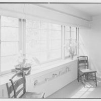 Rodman W. Chamberlain, residence on Moorland Rd., Kensington, Connecticut. Dining room window