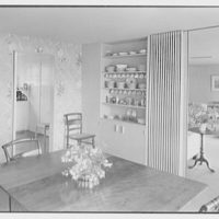 Rodman W. Chamberlain, residence on Moorland Rd., Kensington, Connecticut. Dining room toward living room