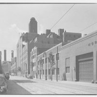 Schaefer's Brewery, Kent Ave., Brooklyn. View south down Kent Ave.