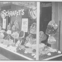 Schrafft's, 58th St. and Madison Ave., New York City. St. Valentine's Day window