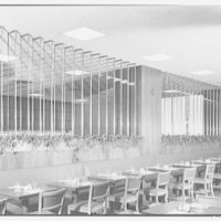 Schrafft's, Esso Building, Rockefeller Center, New York City. Glass louvres, main dining room