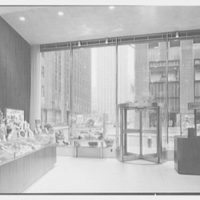 Schrafft's, Esso Building, Rockefeller Center, New York City. View to front window, 51st Street