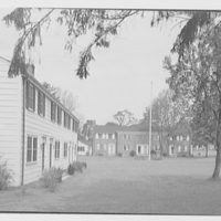 Stanworth Houses, Princeton, New Jersey. View to flagpole