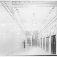 Union Carbide Building, E. 42nd St., New York, New York. Elevator lobby
