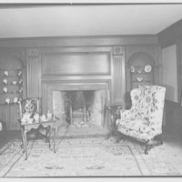 Ashley House, Deerfield, Massachusetts. Living room, to fireplace
