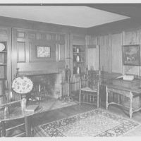 Ashley House, Deerfield, Massachusetts. Study, to fireplace