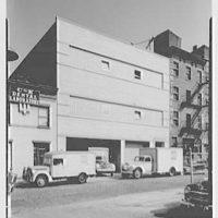 Barton's plant, De Kalb Ave., Brooklyn, New York. West facade with trucks