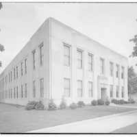 Chesapeake and Potomac Telephone Company. Mt. Vernon Ave. C&P building, rear view of addition