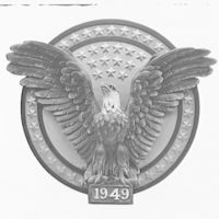 Emblems and seals. Emblem with eagle used at inaugural I