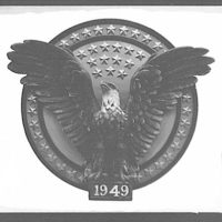 Emblems and seals. Emblem with eagle used at inaugural II