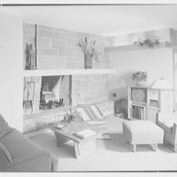 Haut, residence at 305 Shore Rd., Greenwich, Connecticut. Living room fireplace